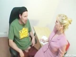 smoking hj blonde mature