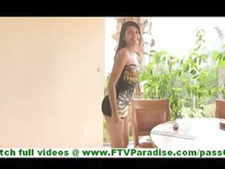 bonaja hot latin chick milf flashing pants and