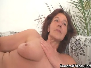 old slut receives banged by young painters