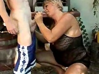 mature couple fucking in the back yard