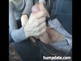 favourable chap gets nice handjob in his car
