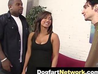 cuckold watches his wife fuck a black shlong