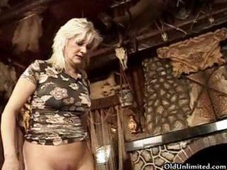 dirty golden-haired aged wife t live without