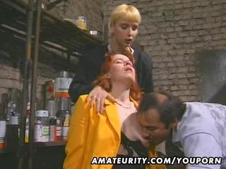 redhead amateur milf sucks and fucks with facial
