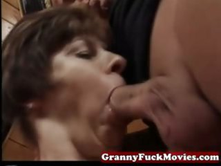 granny sucking and pounding unshaved pussy