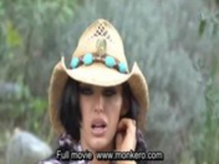 big tits mother i cowgril riding dark cock