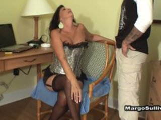 aged breasty cougar smokin oral-service with son