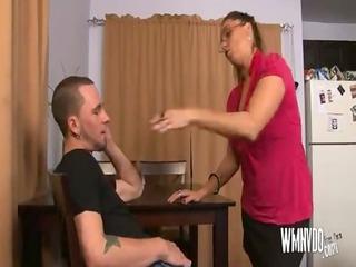 sexy milf aunt , older milf blowjob cumshot
