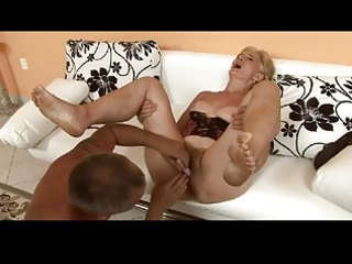 hairy blond granny is a wench by troc