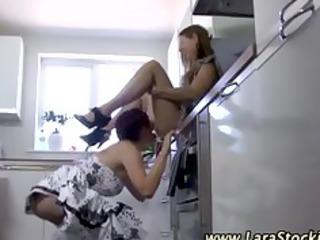 older stocking lesbos