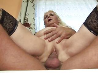 chubby blond granny (german)