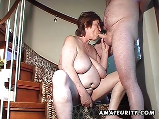 bulky dilettante wife toys and sucks and gets