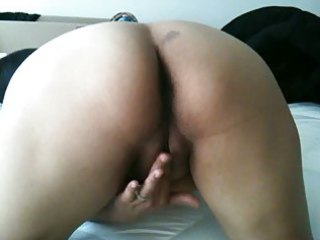 my mexican wife playing with her pussy