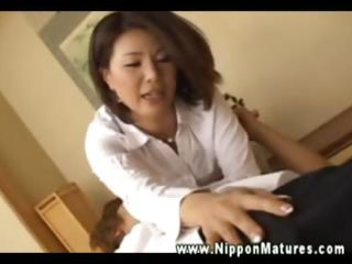 hungry oriental mother i sucking on fingers and