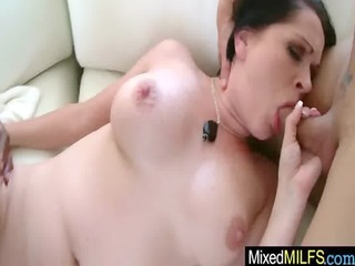 darksome hard cock for sexy busty curve milf