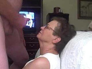 granny receives a facial