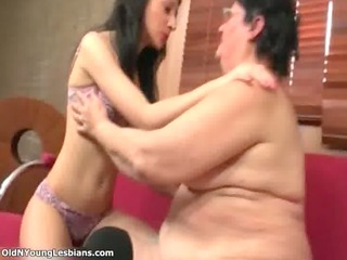fat aged lesbian acquires her moist old