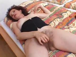 curly mother can darksome cock