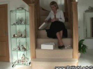 mature brit femdom shoe posing for the camera