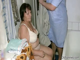 naughty old lady receives her shaggy snatch part5