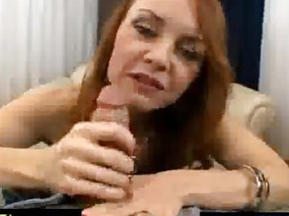 horny red haired older spoiling a cock