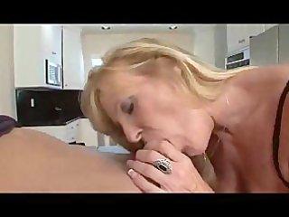 nina - sexy blonde granny in stocking