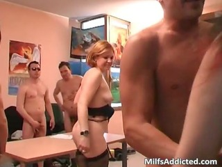 group sex party with some old milf doxies