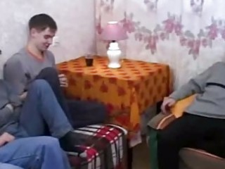real russian mom copulates her sons friends