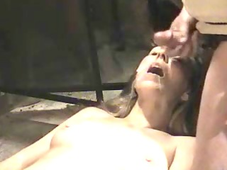 hot wife getting a cum facial in her mouth