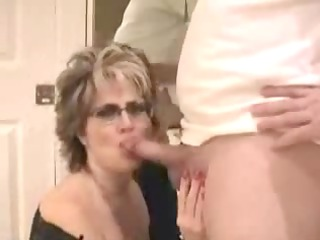mature wife with big milk cans facial