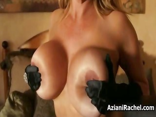 sybian loving milf with massive tits riding