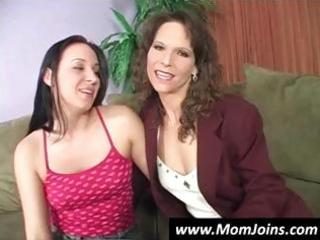 mother and daughter pose and undress down to show