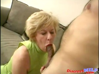 nasty aged slut gets facial load