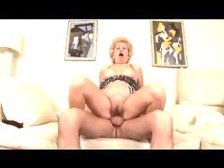 breasty shaggy blond granny copulates