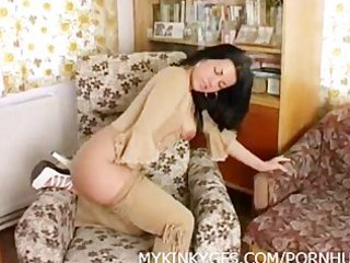 kinky mature with dildo