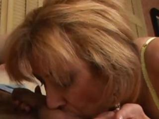 hot golden-haired mother i mikela blows him and