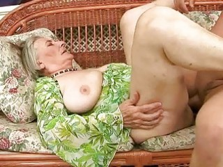 very old granny gets drilled hard