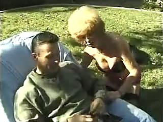 horny older granny fucking outdoors