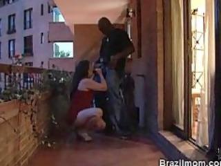 brazilian older babe slowly engulfing a dick