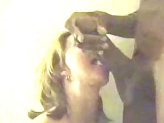 mature woman deepthroats giant black cock