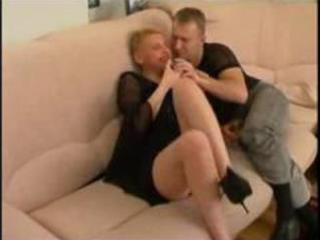 mature russian sexy auntie with guy