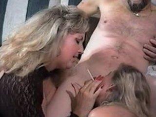 sexy matures tag-team smoking oral