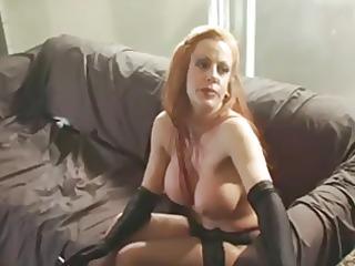 hawt redhead cougar solo smokin and playing