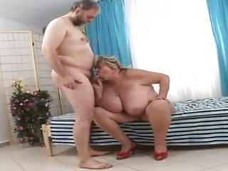 huge grandmother sucking fortunate old penis