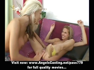 two innocent lesbo dolls fingering and licked