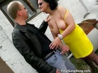 nasty brunette mother i whore blows pecker