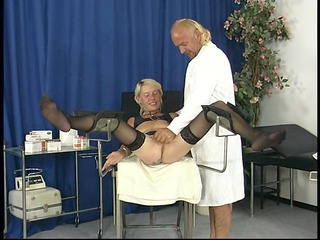 aged chick gets fingered by doctor - dbm movie