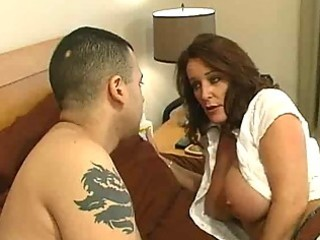 aged floozy with big tits receives a bedroom