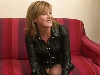 non-professional french milf in a rough three-some