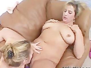 corpulent babes dildo fucking cookie lesbian girl
